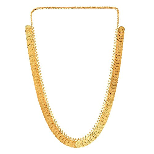 Youbella Jewellery Gold Plated Traditional Long Temple Coin