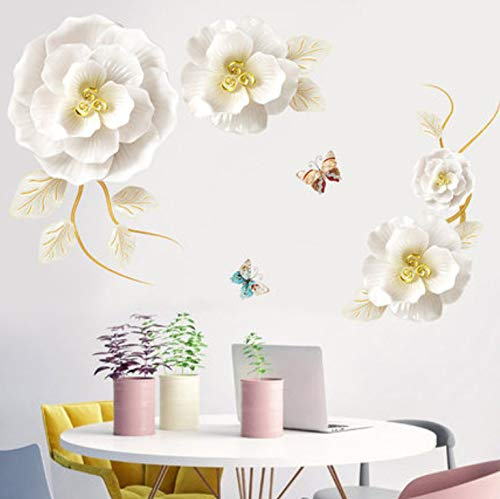 Dalxsh Romantic Flower 3D Wallpaer Vinyl Wall Stickers