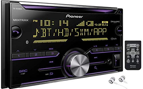 (Pioneer Double DIN In-Dash Built-in Bluetooth iPod iPhone HD Radio CD AM/FM MP3, Front USB, Pandora, iHeartRadio Spotify SiriusXM Satellite Radio Ready Car Stereo Receiver / Free ALPHASONIK Earbuds)