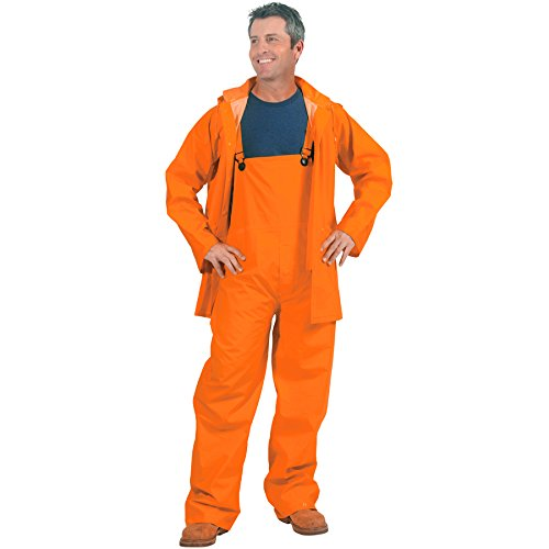 (Galeton 7952-XXL-OR 7952 Repel Rainwear 3 Piece Rain Suit, 0.35 mm PVC, Orange, XX-Large)