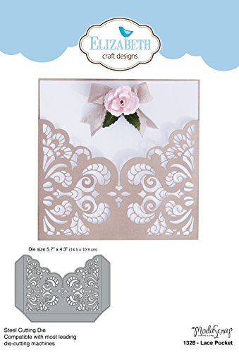 Elizabeth Craft Designs 1328 Metal Die Lace Pocket, 5.7