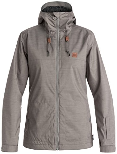 DC Delinquent Women's Skiing Snowboard Jacket - Pewter Large