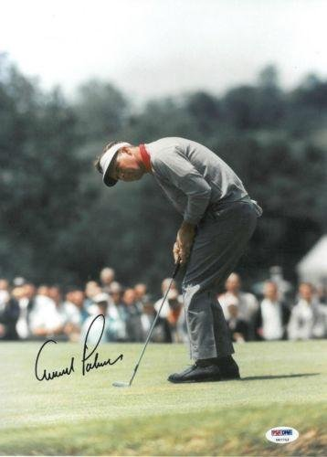 Arnold Palmer Autographed Picture - Authentic 10x13 ) #U07712 - PSA/DNA Certified - Autographed Golf Photos by...