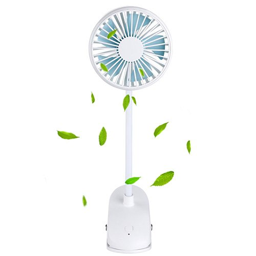 Baby Bracket - TianNorth Clip Fan Rechargeable Battery Operated Clip on Mini Desk Fan For Baby Strollers,Home, Office, Dorm, outdoor (White)