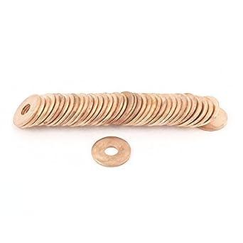 50pcs 6x18x1.5mm arandela Plana de cobre anillo de sellado de Juntas sujetadores estén apretados: Amazon.com: Industrial & Scientific