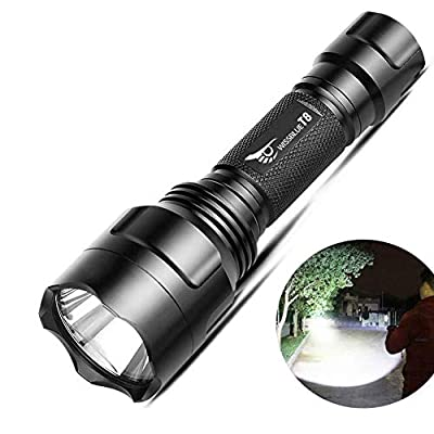 Tactical Flashlights High Lumens,WISSBLUE T8 1200LM Torch Flashlight, Long Distance Flashlight Rechargeable,5 Modes Flashlights, Hiking Emergency Camping Equipment Birthday Christmas Gift