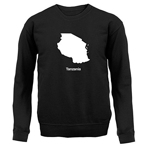 Dressdown Tanzania Silhouette - Unisex Jumper / Sweater - Black - (Tanzania Sweater)