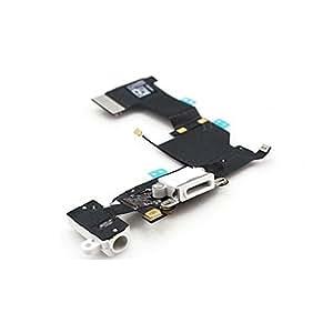 iPhone 5 de Apple conector de carga con clavija de audio y micrófono para conector lightning, color blanco