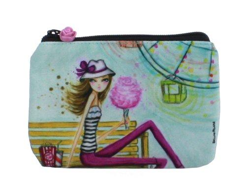 Santa Barbara Design Studio Bella Pilar Zippered Pouch, Cotton Candy, Purple/Pink/Yellow/green, Bags Central