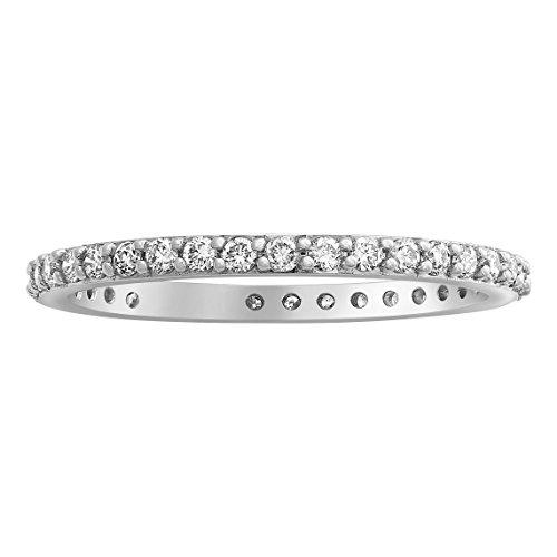 Olivia Paris 14k White Gold Certified 1/2 Carat cttw Diamond Eternity Band Ring (H-I, VS2-SI1) ()