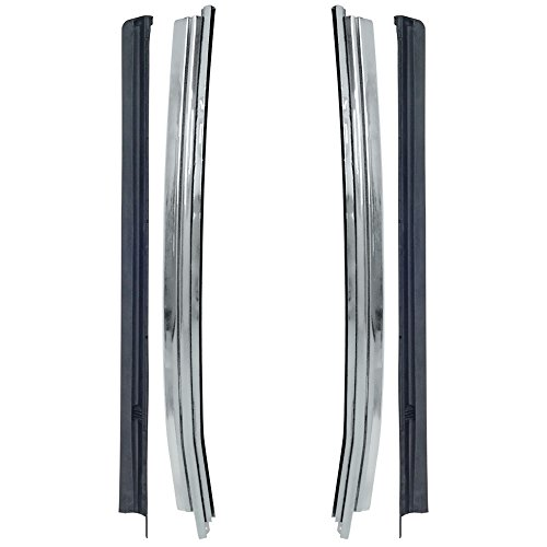 - New 1969-70 Ford Mustang Fastback Rear Door Glass Molding Weatherstrip Left Right Pair (EBD0ZZ-6322220KT)
