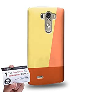Case88 [LG G3] 3D impresa Carcasa/Funda dura para & Tarjeta de garantía - Art Ivory Colour Blocking