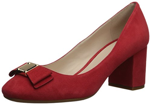 Cole Haan Women's Tali Bow Pump, Aura Orange Suede, 8 B - Cole Bow