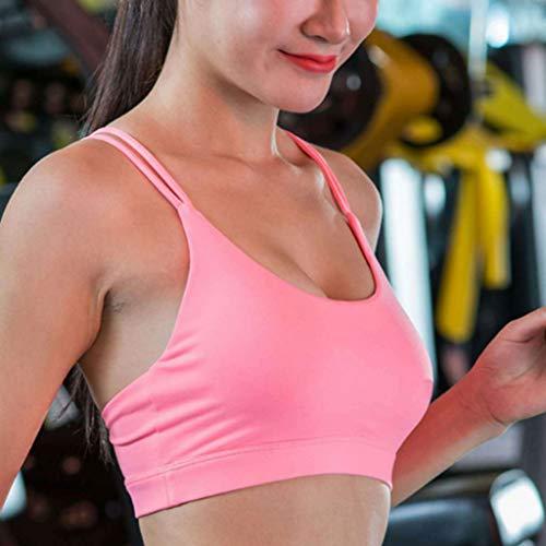 Noeud Dimpleya Féminine Yoga Soutien xl gorge blueandblack Pink De Sport Beauté Dos Mode Chocs wvBZw4Txq
