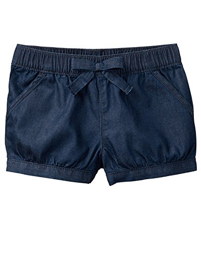 Gymboree Girls' Toddler Bubble Short, Chambray, - Bubble Shorts