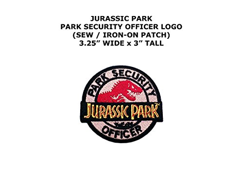 Adult Rebel Officer Costumes (Jurassic Park Security Officer Dinosaur Theme DIY Embroidered Sew or Iron-on Applique Patch Outlander Gear)