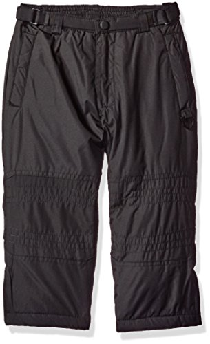 Cuff Snow (Hawke & Co. Little Boys' Snow Pant with Zip Leg and Storm Cuff, Black,)