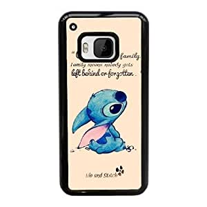 Disney Lilo y Stitch N6Z6Eq HTC uno M9 caja del teléfono celular Funda Funda Negro K8I9PL 6D caso duro