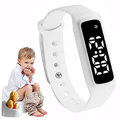 GOGO Potty Training Watch - Baby Reminder Water Resistant Timer - Potty Trainer for Toilet Training Boys & Girls - Kids & Toddler Potty Training Toilet Watches (White)