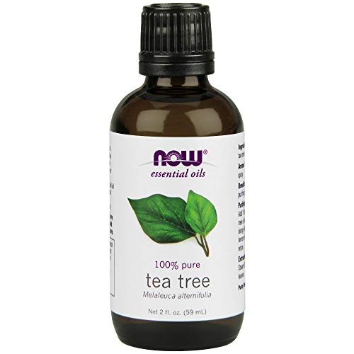 NOW Essential Oils, Tea Tree Oil, Cleansing Aromatherapy Scent, Steam Distilled, 100% Pure, Vegan, 2-Ounce