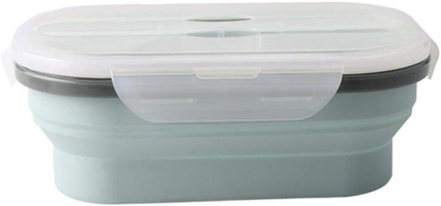 332 pageann – Tartera de Silicona, Caja de almacenaje con Bento Plegable para microondas, Caja de Picnic Exterior única Caja de Lunch Aislante para Adultos y niños: Amazon.es: Hogar