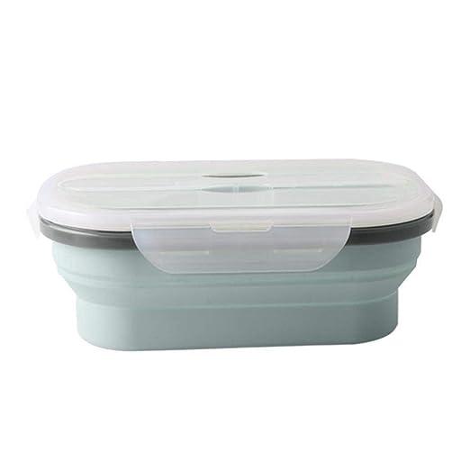 332 pageann – Tartera de Silicona, Caja de almacenaje con Bento Plegable para microondas, Caja de Picnic Exterior única Caja de Lunch Aislante para ...