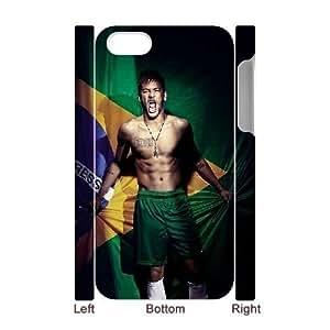 3D [Neymar Jr Series] IPhone 4/4s Cases Neymar Jr Brazil Flag, Iphone 4 Case For Girls Yearinspace - White