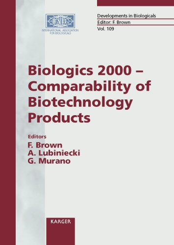 Read Online Developments in Biologicals: Biologics 2000 Comparability of Biotechnology Products pdf epub