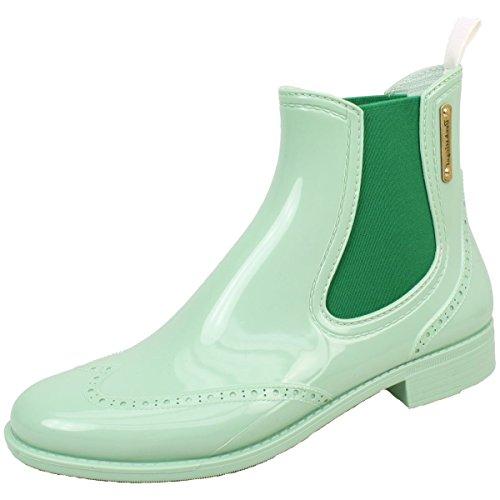 BOCKSTIEGEL® CHELSEA Mujer - Medio Botas de goma con estilo | Chelsea Boots | A prueba de agua | Elegante | Exclusivo verde claro