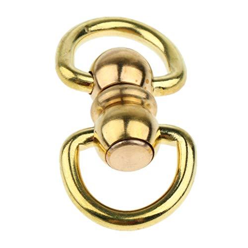 - Trigger Swivel Clip Brass Craft Snap Hooks Key Lobster Clasps Swivel Bolt Snap (Size - 2)