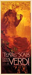 TEATRO ALLA SCALA VERDI THEATRE SHOW EUROPE ITALY ITALIA VINTAGE POSTER REPRO