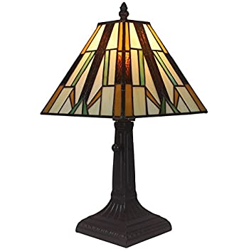 Amora Lighting AM100TL08 Tiffany Style Mission Table Lamp 15.5 In ...