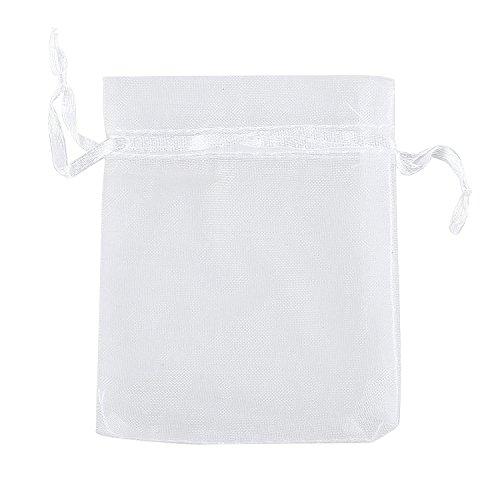 (Ankirol 50pcs Sheer Organza Favor Bags 12 X 15.7 INCH X Large Organza Drawstring Bags)