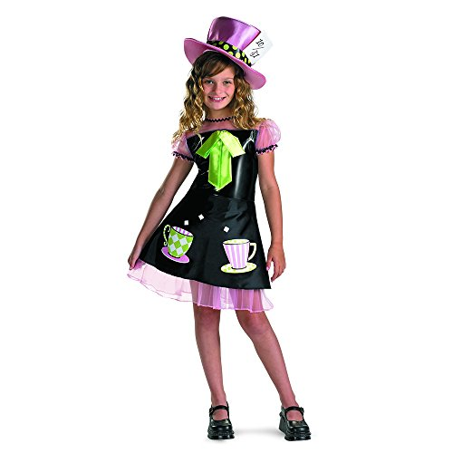 Cute Mad Hatter Costume For Girls (Mad Hatter Costume - Large (10-12))