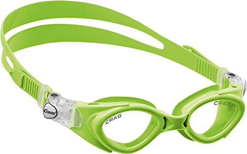 Silicone Swim Goggles for Kids age 3, 4, 5, 6, 7 | CRAB made in Italy by Cressi: quality since 1946