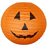"""Just Artifacts 16"""" Orange Halloween Pumpkin Paper Jack-O'-Lantern/Lamp 16"""" Diameter - Just Artifacts Brand"""