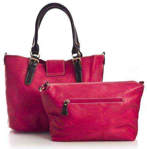 Big Handbag Handle Vegan in Navy Purse Womens Shop 3 Handbag with Leather Top 1 Blue Make up Large RwqRFPxrC
