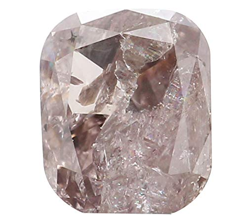 Natural Loose Diamond Cushion Brown Pink Color I3 Clarity 4.14 MM 0.28 Ct KR1523 ()