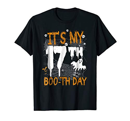 It's My 17th Boo-th Day Birthday Shirt Halloween 17 Year Old for $<!--$19.99-->