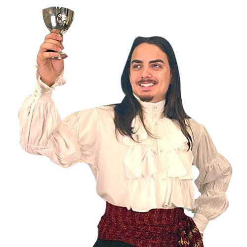 Renaissance Noble's Shirt - WHITE - Large (Period Clothing) (Noble Renaissance Man Costume)