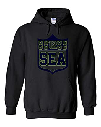 Amazon.com: America's Finest Apparel Seattle Shield Hoodie