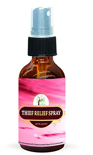 Thief Relief Spray, with Antibacterial Properties, RECURRENT Strep Prevention, Throat Irritation and Nasal DRIP Relief, by RELEAF OIL