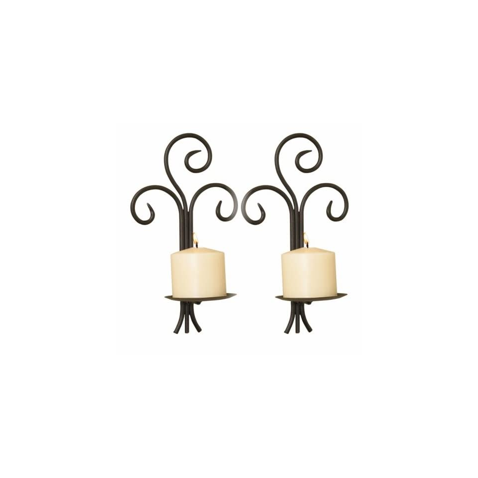 Wrought Iron Wall Sconce Set of 2