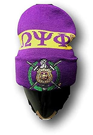 d8c9e21d77962 Keleafrica Omega Psi Phi Beanie w Shield at Amazon Men s Clothing store
