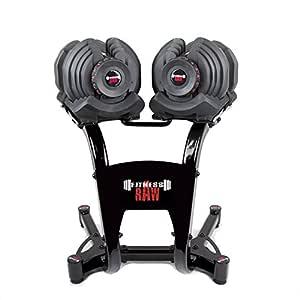 fitnessRAW Ajustable Pesas 40 kg/Adjustable Dumbbell 40 kg/haltère ...