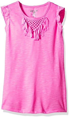 kensie Big Girls' Fashion Tank (More Styles Available), 1307 Magenta, 10/12 - Kids Magenta Apparel
