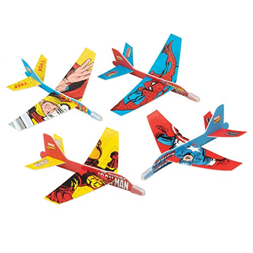 Avengers Comic Gliders - Prizes 48 per Pack by SmileMakers (Image #1)