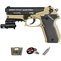 Gamo PT-80 Dessert Atack LÁSER versión | Pistola de Aire comprimido (CO2) y balines (perdigones 4.5mm) + Accesorios. <3…