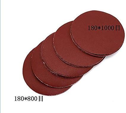 20pcs Hojas de 7 Pulgadas 180mm Redonda El Papel de Lija de Disco de Lija de Grano 60 a 1200 de Gancho y Bucle Disco de Lijado Sander s/émola NO LOGO LT-Discs tama/ño : 80