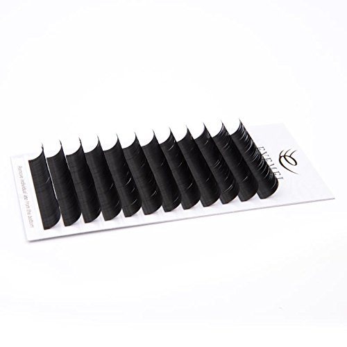 Eyelash Extensions 0.20 D Curl 18mm Eyelash Extension 3D False Eyelashes Lash Extension Natural Faux Mink Eyelash Extension Supplier Single Length Salon Perfect Use by EYEMEI (0.20-D-18mm)